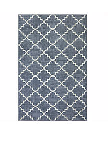 Fancy Trellis Gray Area Rug 5' x 7'6\