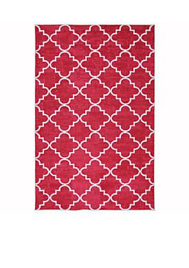 Fancy Trellis Hot Pink Area Rug 5 x 8