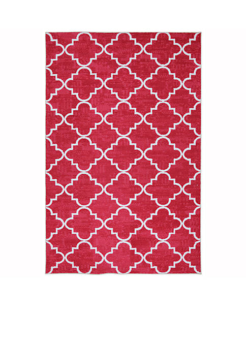 Mohawk Home Fancy Trellis Hot Pink Area Rug