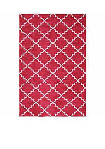 Fancy Trellis Hot Pink Area Rug 5' x 8'