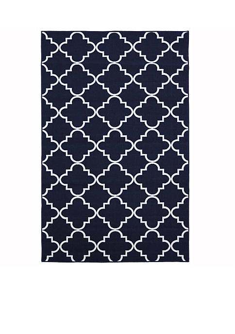 Mohawk Home Fancy Trellis Navy Area Rug