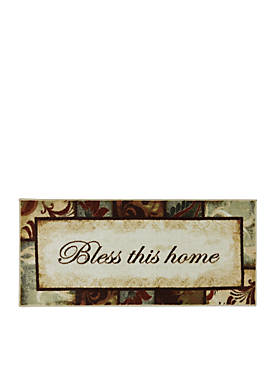 Rules to Live by Kaleidoscope Multi Printed Slice Area Rug 26 x 4