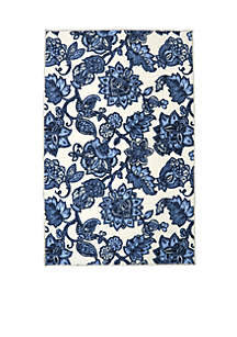 Arranged Melody Blue Area Rug