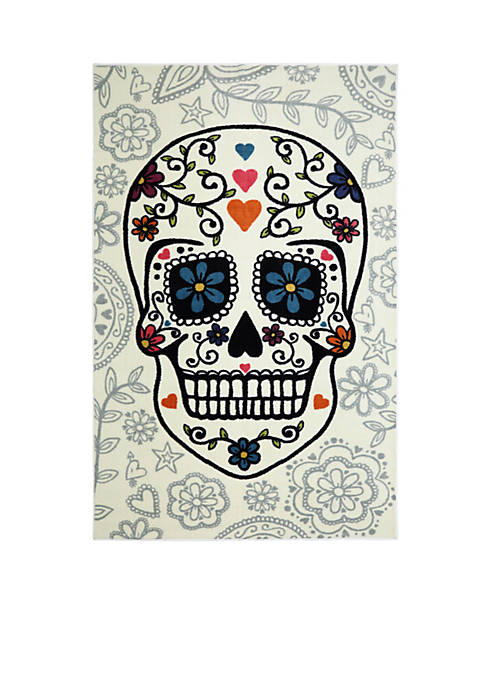 Mohawk Home Sugar Skull Area Rug