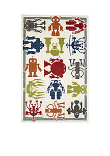 Robot Army Area Rug