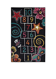 Hopscotch Chalk Area Rug