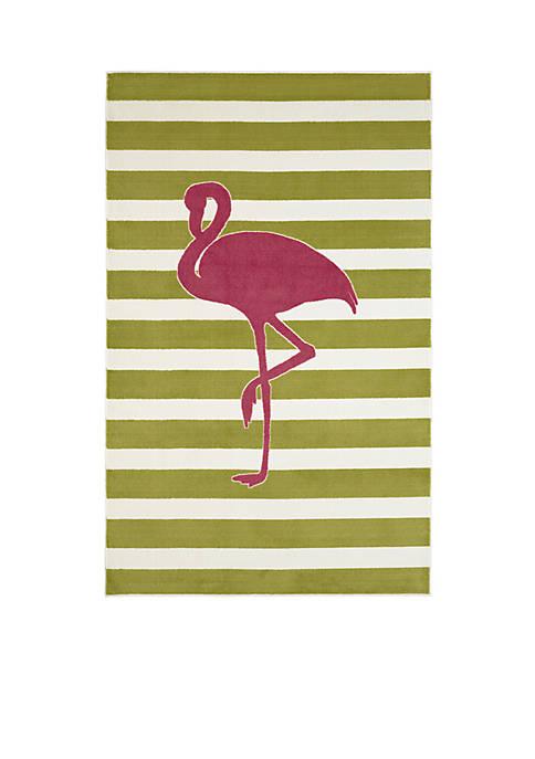 Fancy Flamingo Hot Pink Area Rug