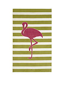 Fancy Flamingo Hot Pink Area Rug