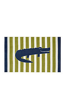Friendly Alligator Area Rug