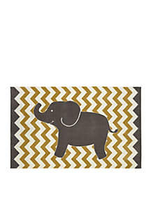 Yellow Lucky Elephant Area Rug