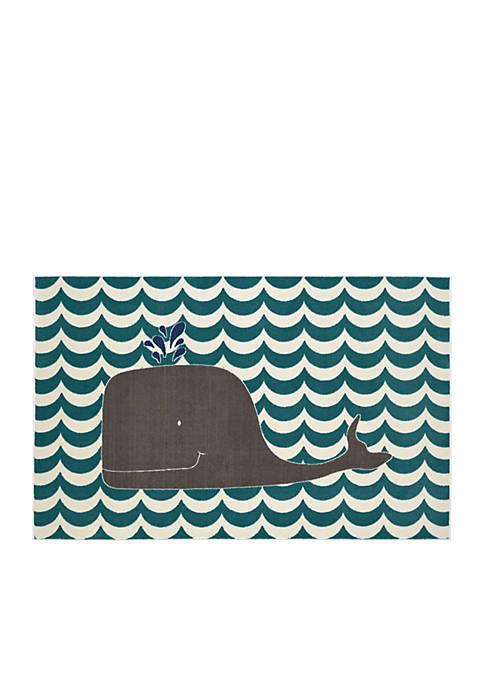 Oh Whale Blue Rug