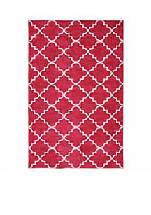 Mohawk Home Fancy Trellis Hot Pink Area Rug