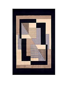 """New Wave Frames Black Area Rug 36"""" x 56"""""""
