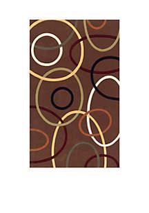 Elements Ovals Brown Area Rug 2'6\
