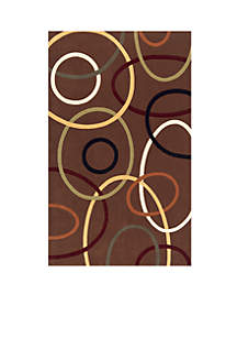 Elements Ovals Brown Area Rug 3' x 5'