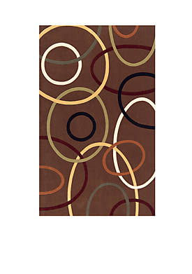 Elements Ovals Brown Area Rug 5 x 8