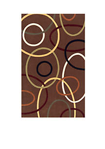 Elements Ovals Brown Area Rug 5' x 8'