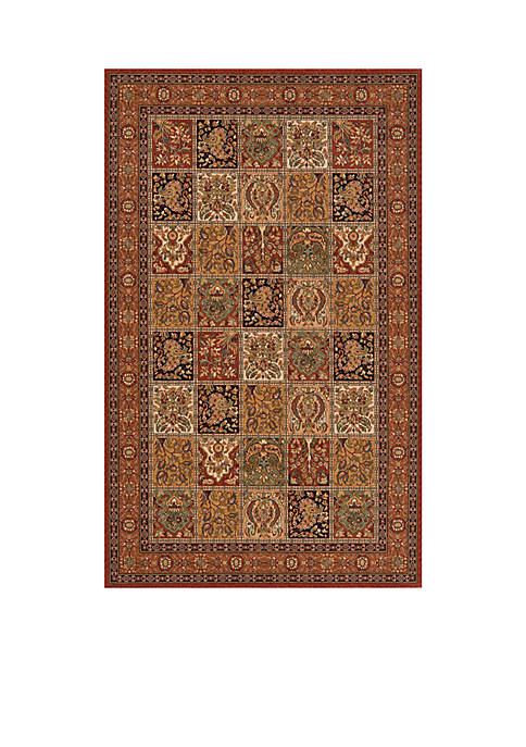 "Persian Garden Tiles Multi Area Rug 26"" x 8"