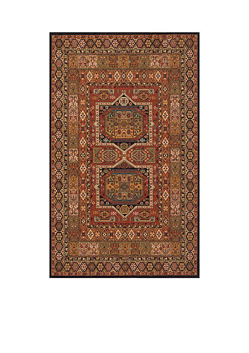 Persian Garden Palace Black Area Rug 5 x 8