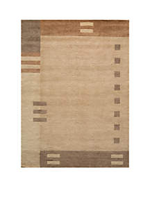 Gramercy Geometric Brown Area Rug 2'6\