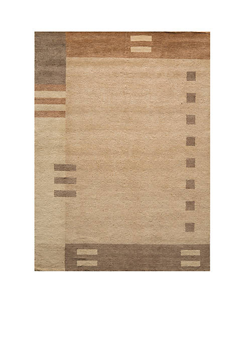 Momeni Gramercy Geometric Brown Area Rug 5 x