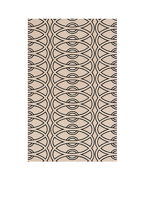 "Momeni Elements Links Ivory Area Rug 26"" x"