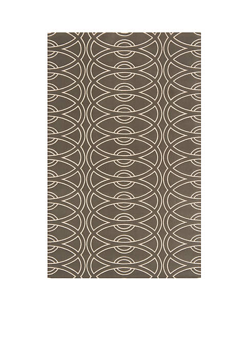 Momeni Elements Links Gray Area Rug 5 x