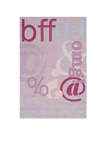 Lil Mo Hipster Text Area Rug 3' x 5'