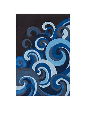 Lil Mo Hipster Waves Area Rug 5 x 7