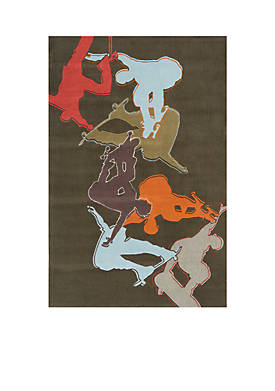 Lil Mo Hipster Skater Concrete Area Rug 7 x 5