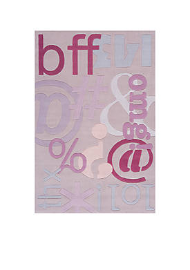 Lil Mo Hipster Text Area Rug 5 x 7