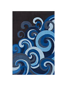 Lil Mo Hipster Waves Area Rug 8 x 10