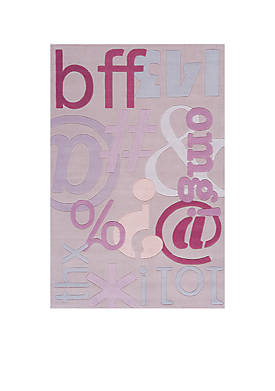 Lil Mo Hipster Text Area Rug 8 x 10