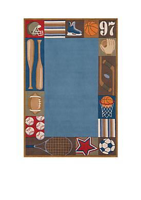 Lil Mo Sports Area Rug 2 x 3