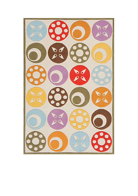 Lil Mo Dots Beige Area Rug 3 x 2