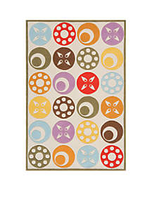 Lil Mo Dots Beige Area Rug 3' x 2'