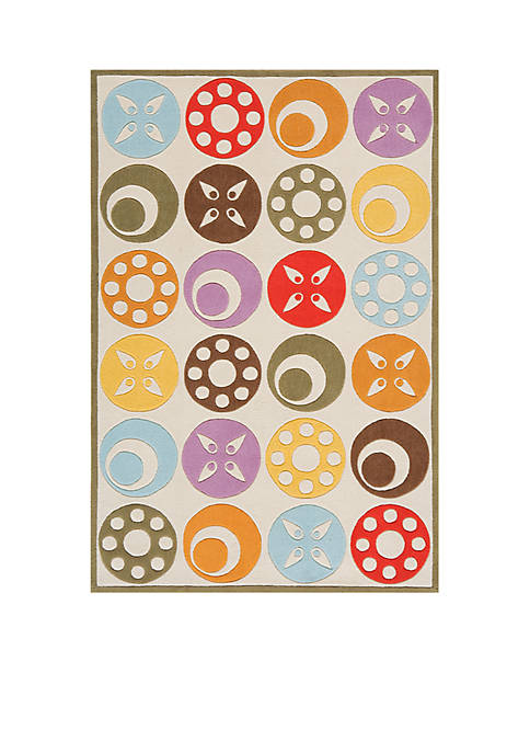 Lil Mo Dots Beige Area Rug 5 x 3