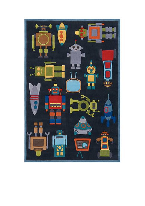 Momeni Lil Mo Robots Area Rug 4 x