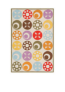 Lil Mo Dots Beige Area Rug 6' x 4'
