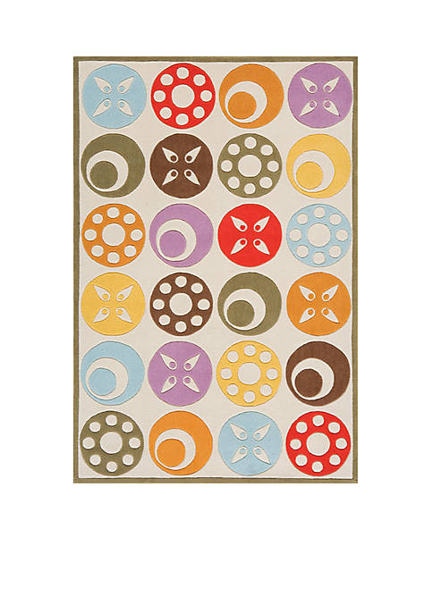 Lil Mo Dots Beige Area Rug 7 x 5