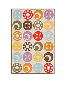 Lil Mo Dots Beige Area Rug 7' x 5'