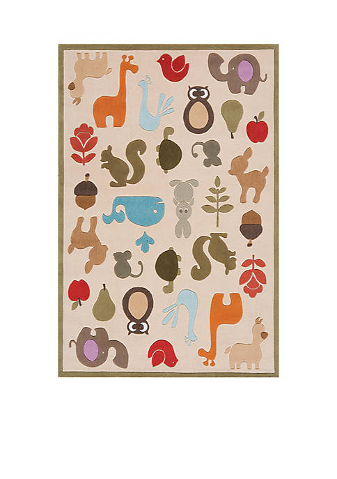 Lil Mo Critter Beige Area Rug 10 x 8