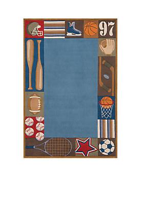 Lil Mo Sports Area Rug 8 x 10