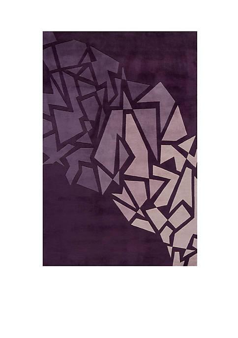 Momeni New Wave Shatters Purple Area Rug 2