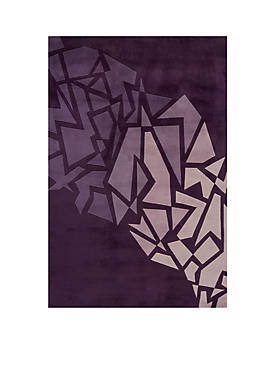 "New Wave Shatters Purple Area Rug 36"" x 56"""