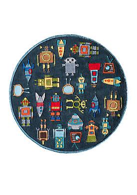 Lil Mo Robots Area Rug 5 x 5