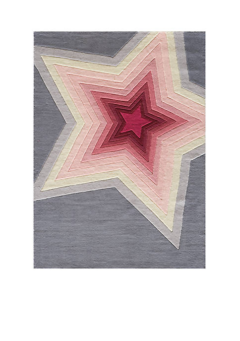 Lil Mo Hipster Star Area Rug 5¿ x 3¿
