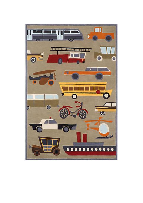 Lil Mo Transportation Area Rug 2 x 3