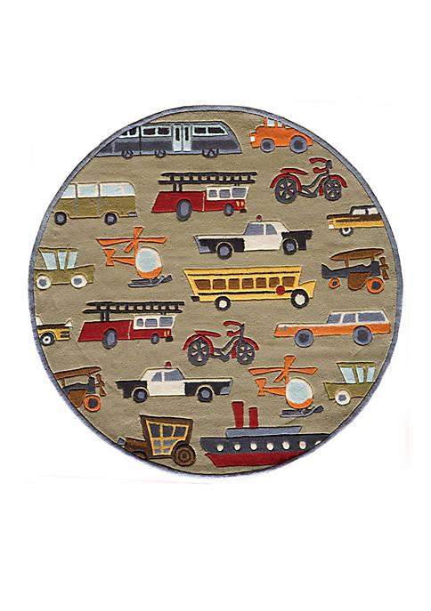 Lil Mo Transportation Area Rug 5 x 5