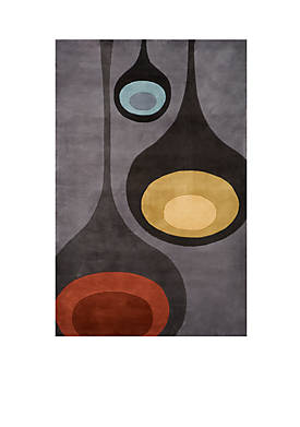 "New Wave Drops Steel Area Rug 26"" x 8"